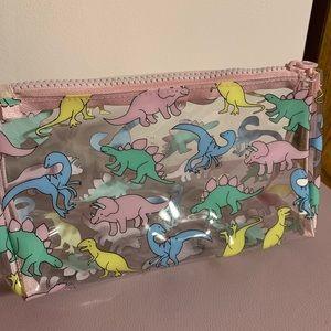 Dinosaur makeup bag/pencil case